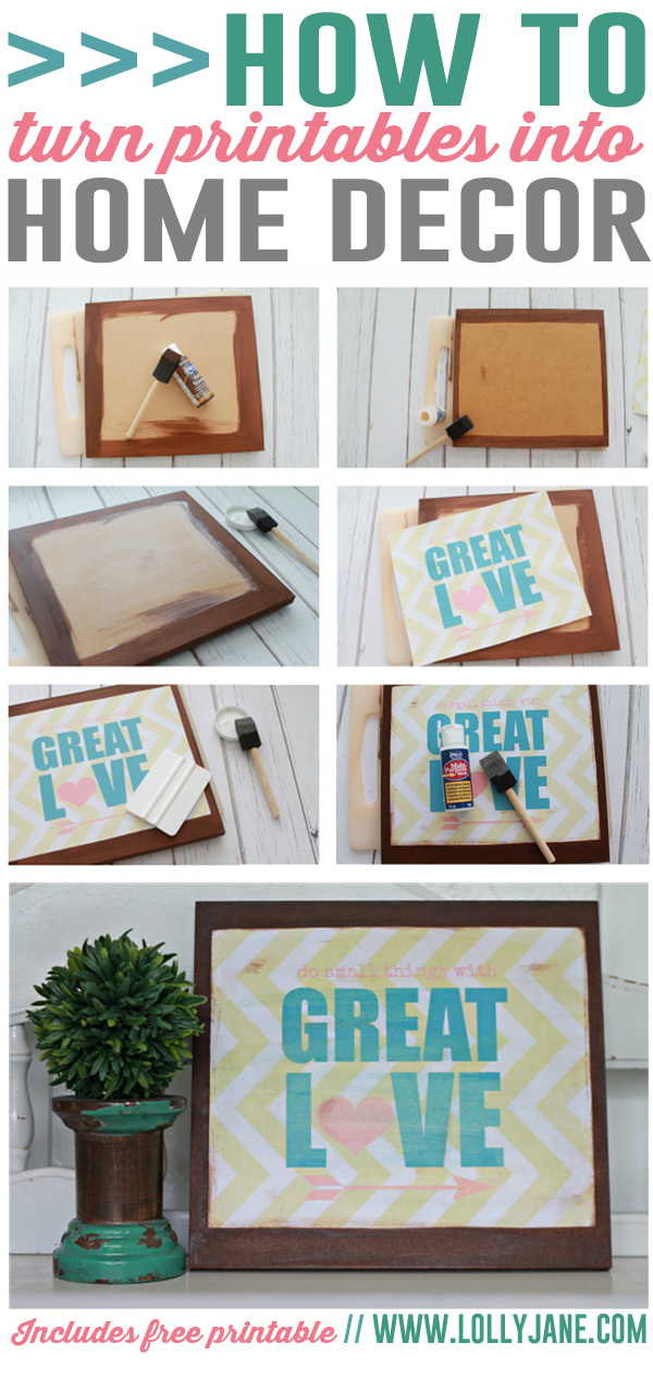 7 images of printable diy home decor