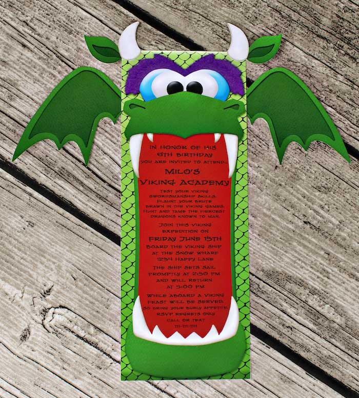6 Images of Dragon Party Printables