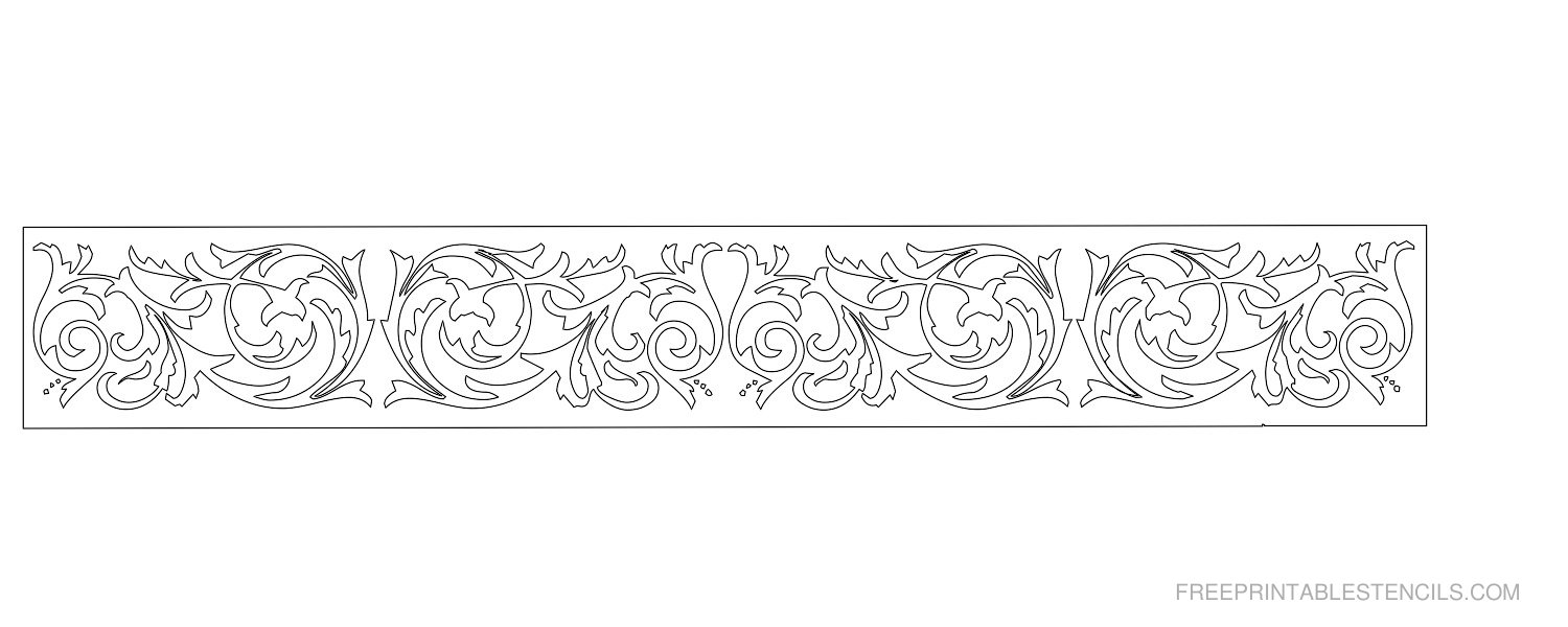 8 Images of Free Printable Flower Stencil Borders