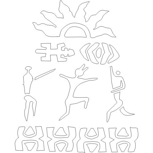 7 Images of Printable African Stencils