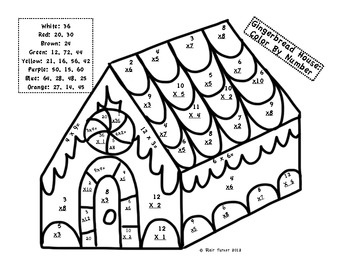 Free Christmas Color By Number Math Worksheets - Sheets