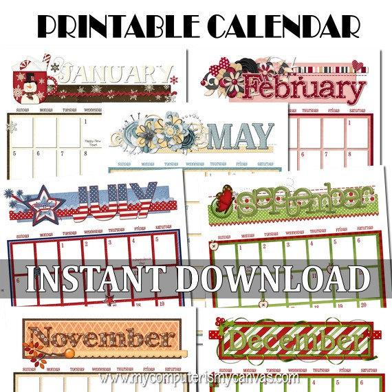 4 Images of Flip Calendar 2014 Printable