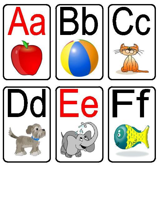 6 Images of Free Printable Preschool Alphabet Flash Cards