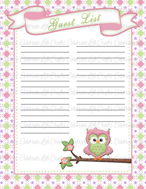 8 best images of guest baby shower printables baby for Free printable baby book templates