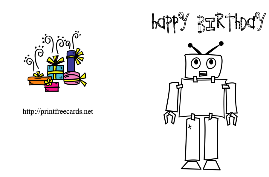 6 Images of Free Printable Birthday Cards To Color