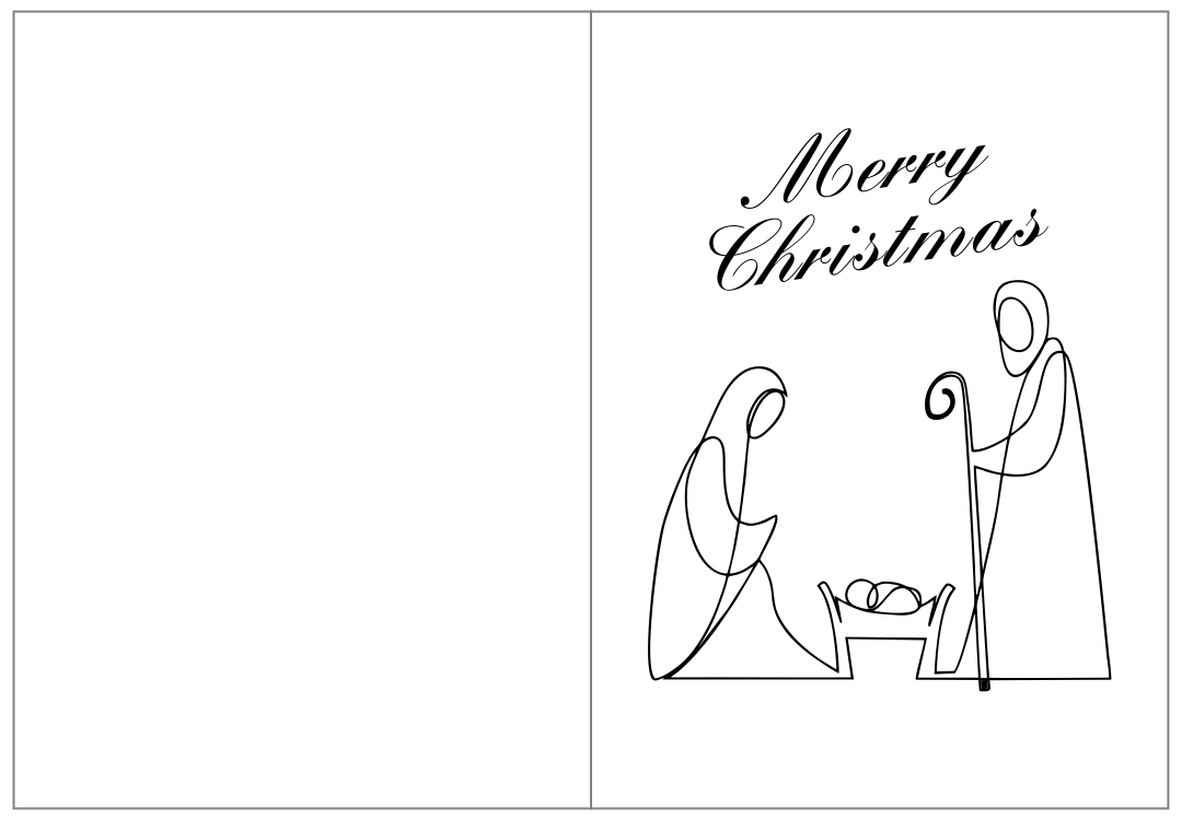 Printable Christmas Cards Nativity