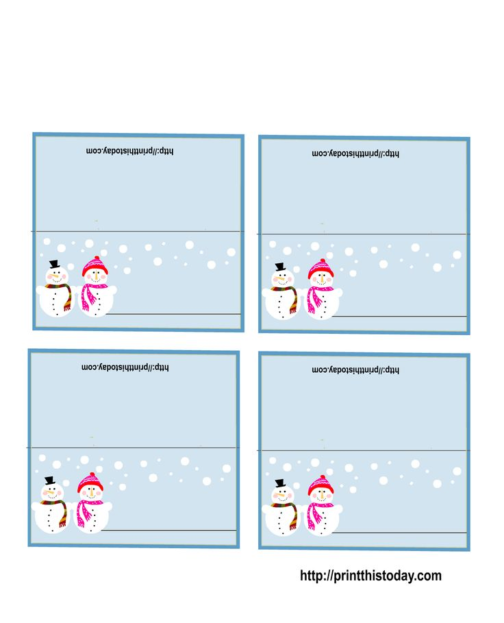 7 Images of Free Printable Holiday Placecards