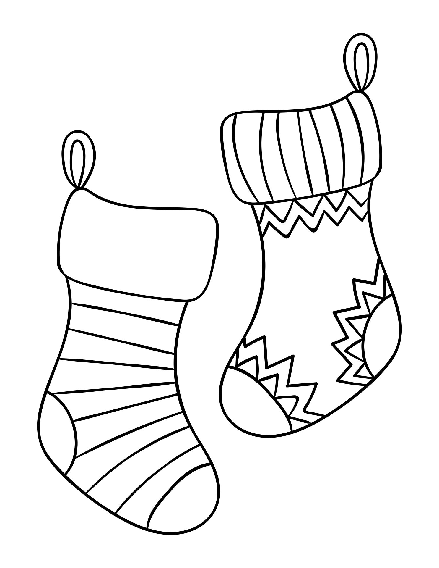 6 Best Christmas Stocking Coloring Pages Printable ...