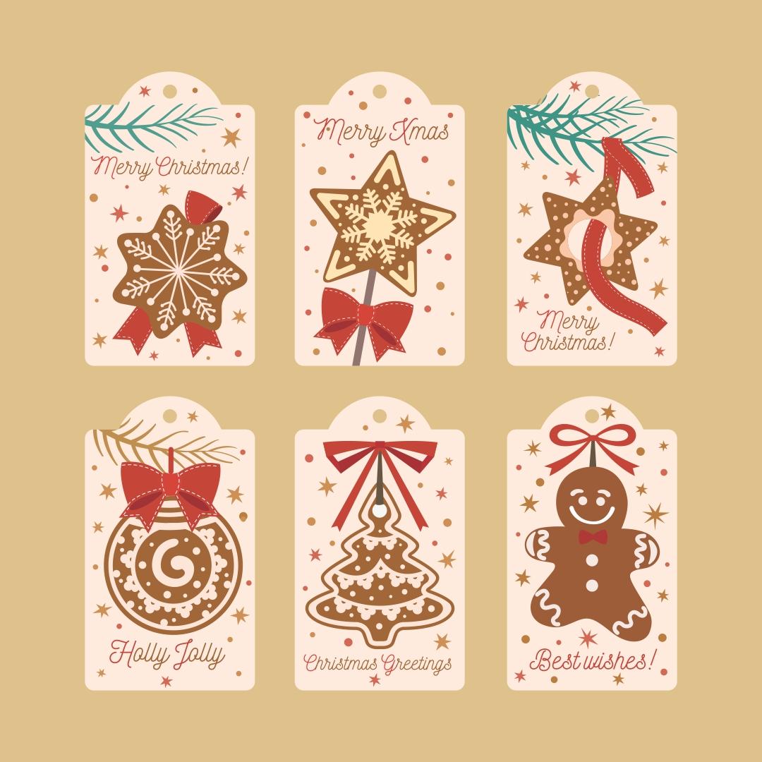 7 Best Merry Christmas Printable Cookie Tags Printablee Com