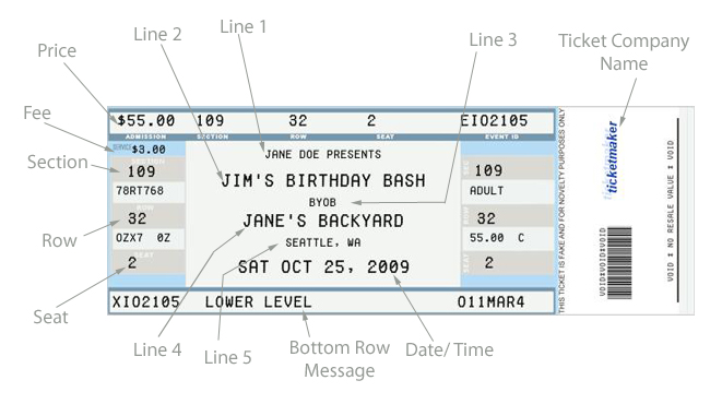 6 Images of Free Printable Concert Ticket Invitation Template