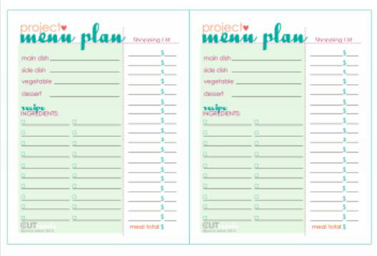 7 best images of printable dinner party menu templates for Free printable menu templates