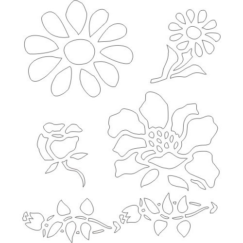 Flower Stencils Printable : Best images of free printable flower stencil borders