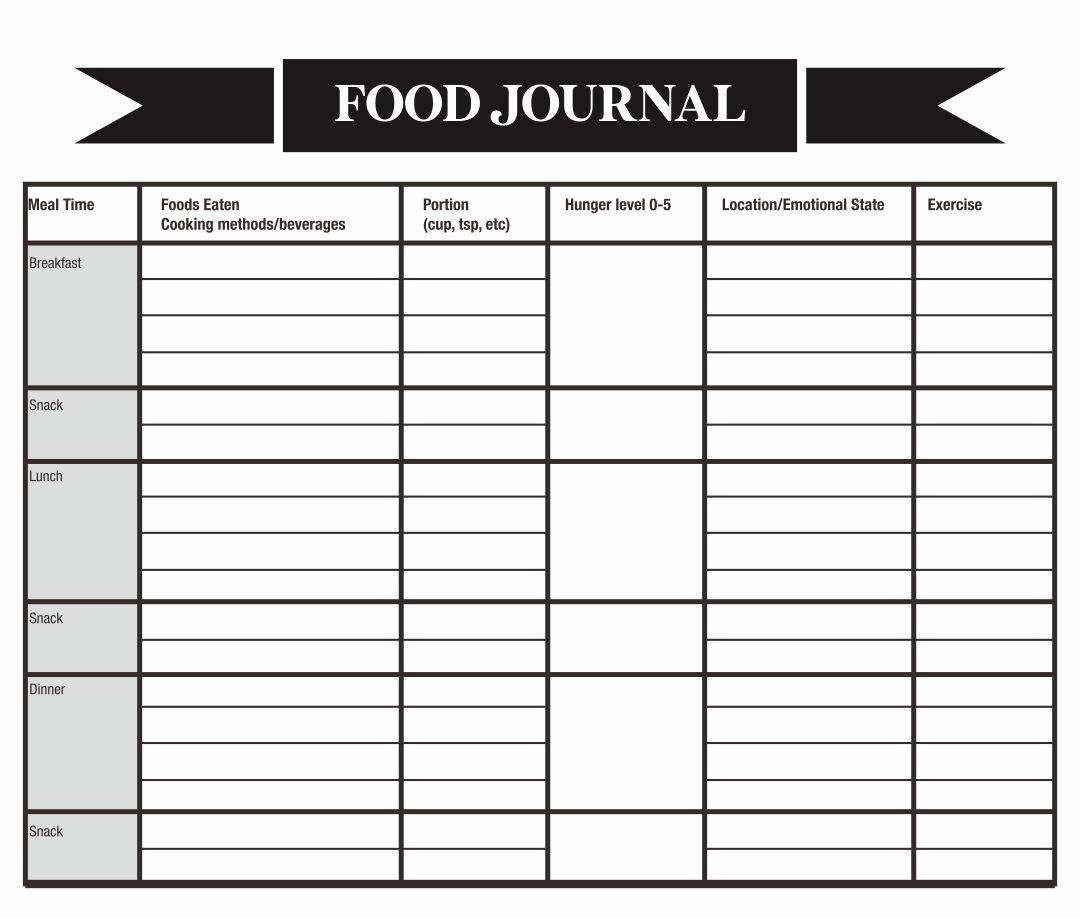 Printable Food Log Journal