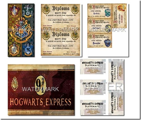 4 Images of Harry Potter Party Printables
