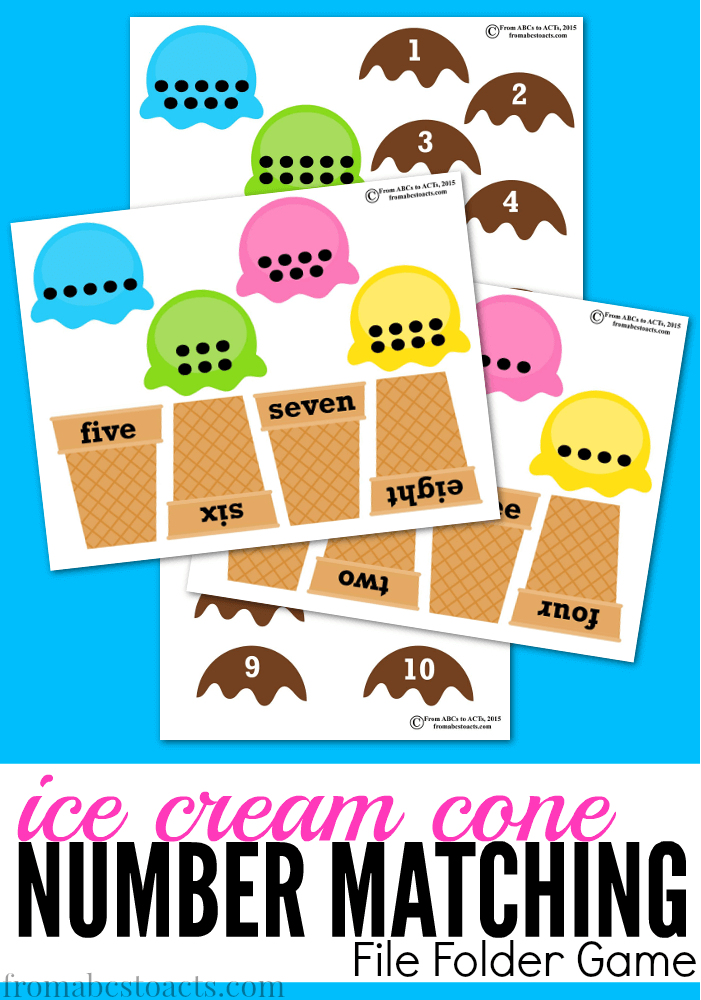6 Images of Matching Ice Cream Cone Printable