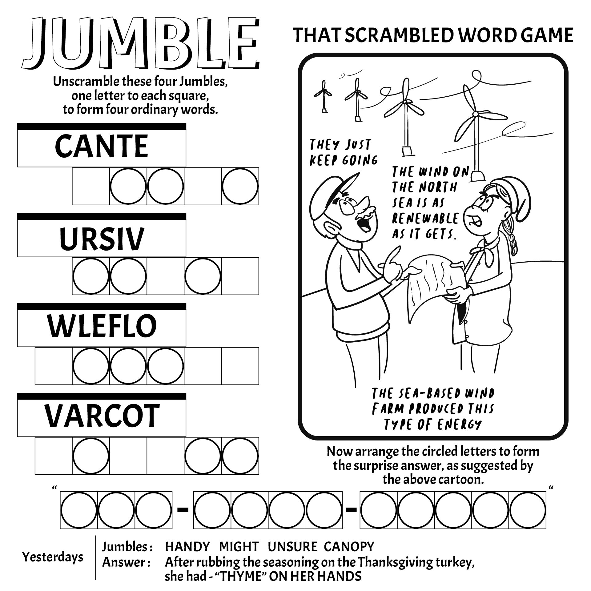 5 Images of Free Printable Jumble Word Puzzles