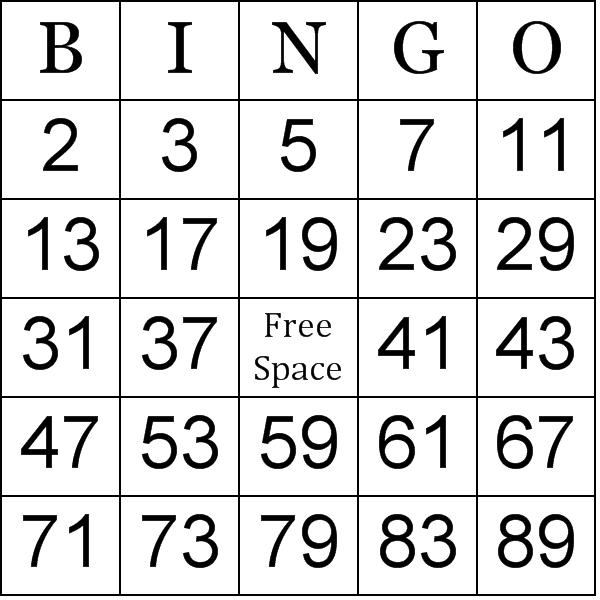 Math Bingo Worksheets - Davezan
