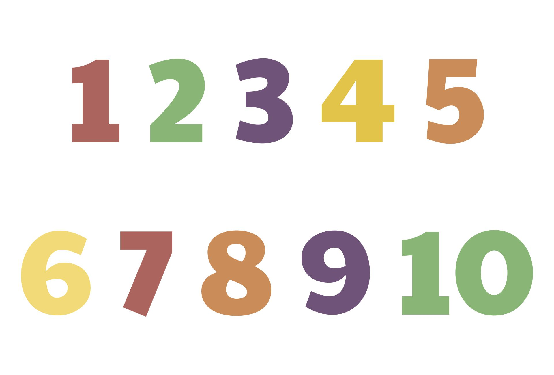 Free Printable Numbers 1 10