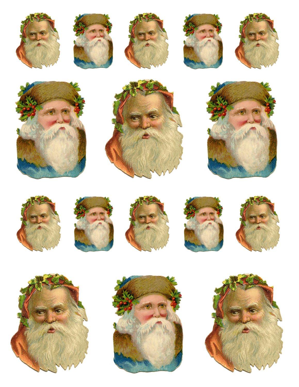 Printable Santa Christmas Ornaments