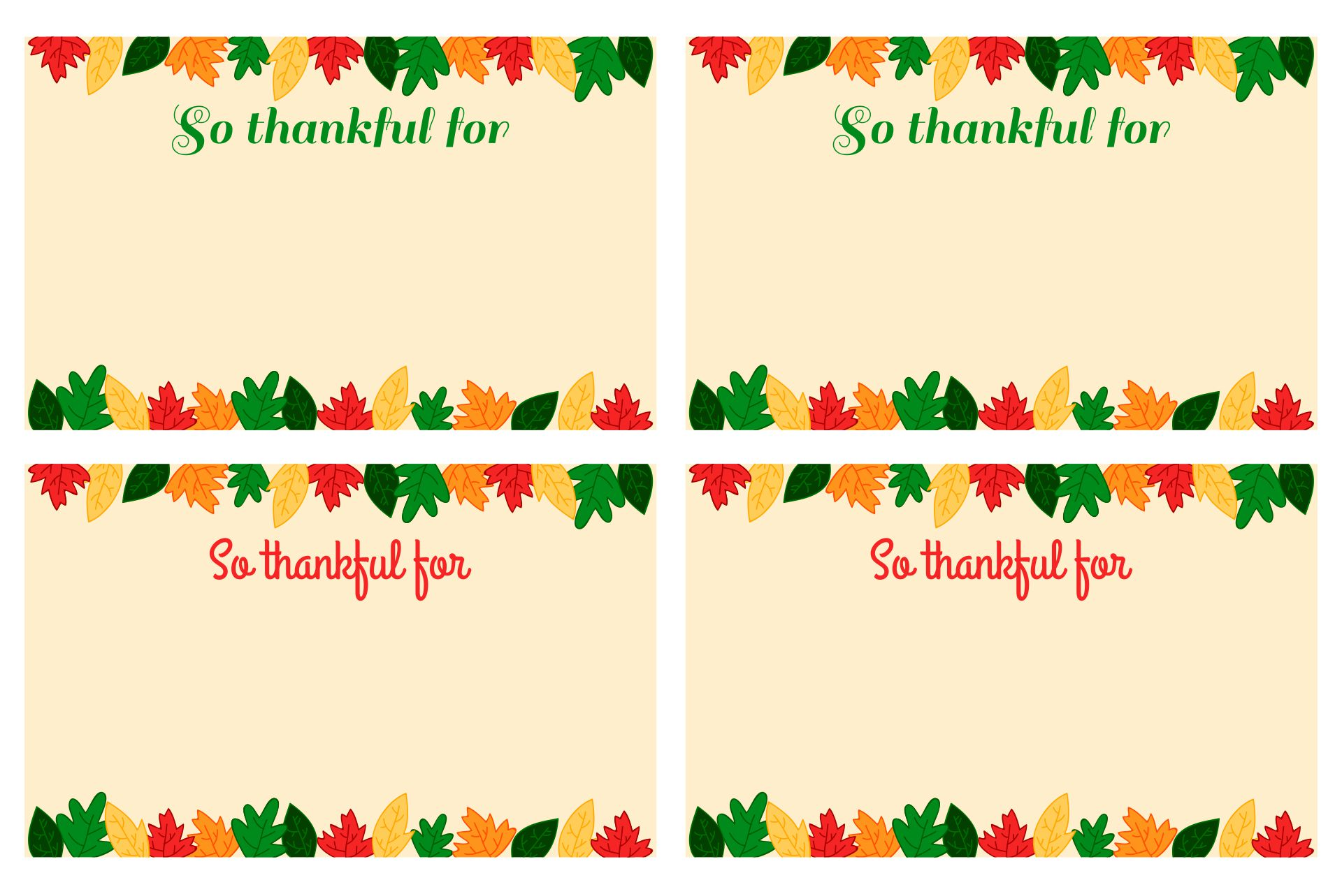 Printable Thanksgiving Place Card Template
