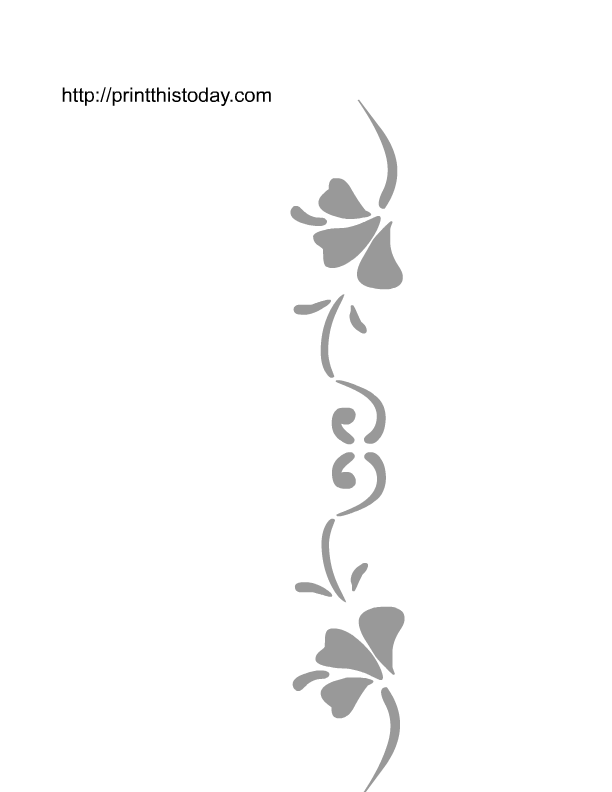 Wall Stencils Patterns Printable : Best images of free printable flower stencil borders