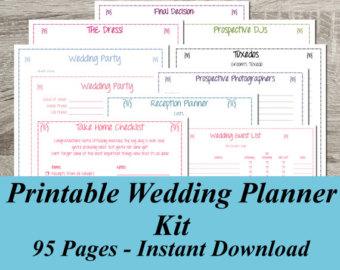 9 best images of wedding planner binder printable pages On free wedding planning kit