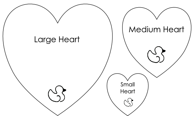 5 Images of Mini Printable Heart Template