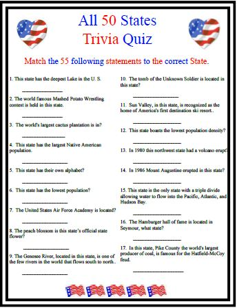 6 Images of Travel Trivia Games Printable