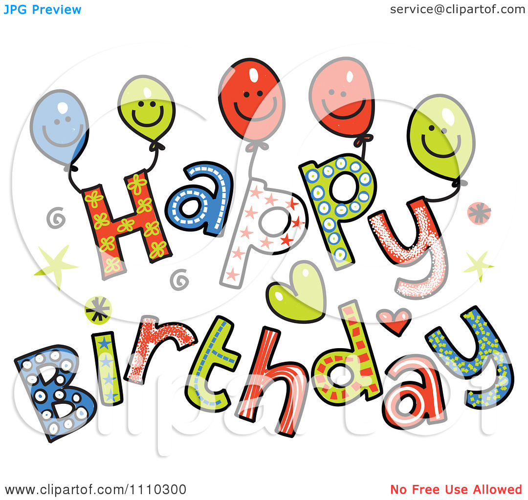6 Images of Free Printable Happy Birthday Clip Art