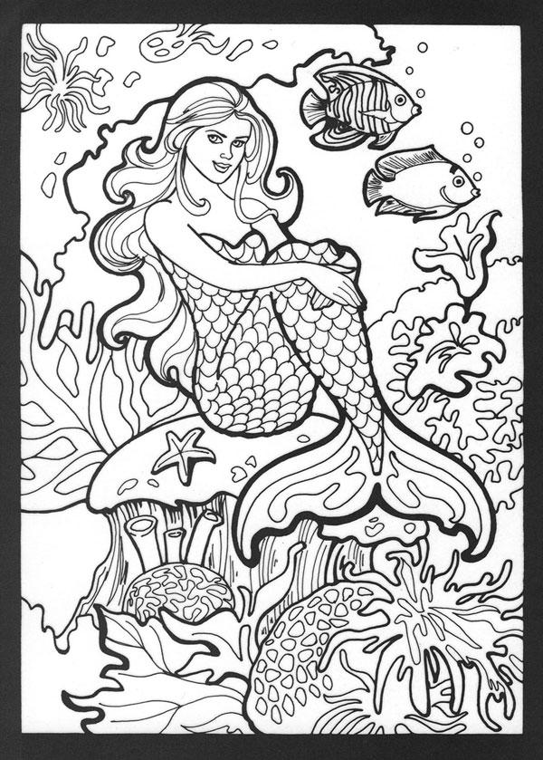 7 Images of Realistic Mermaid Printables