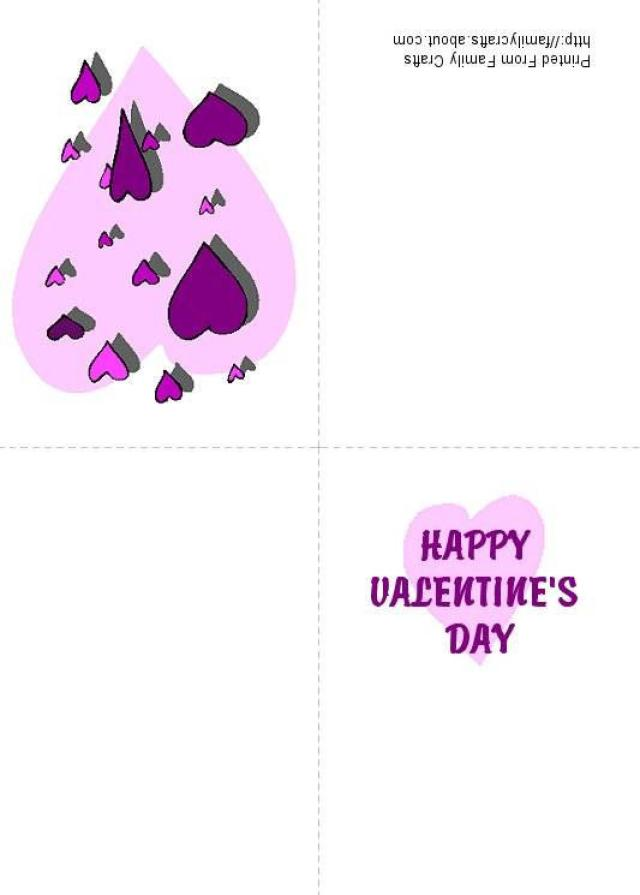4 Images of Purple Hearts Free Printable