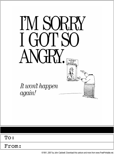 5 Images of Free Printable Sorry Cards Online