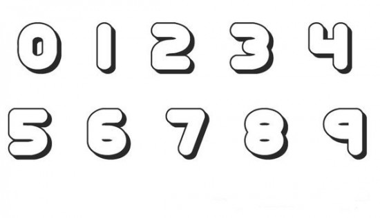 6 Images of Printable Bubble Number 1 Thru 10