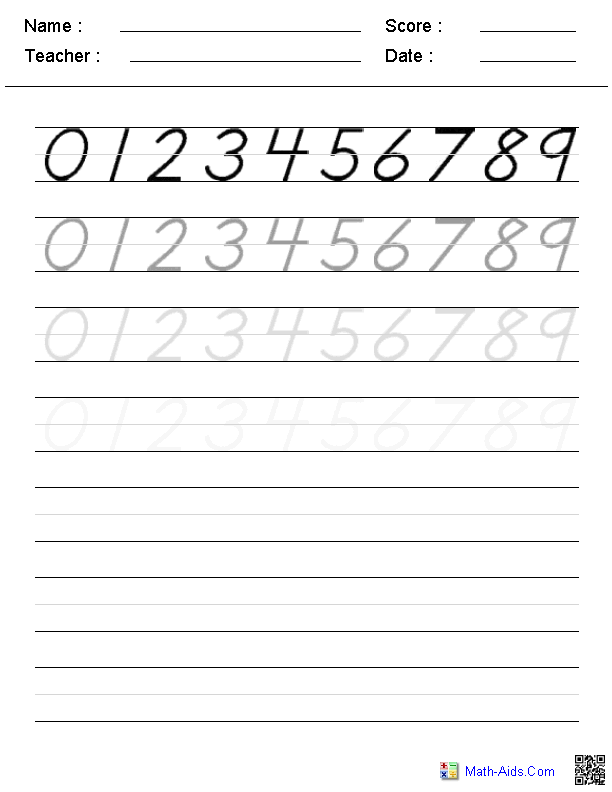 Learning To Write Numbers Worksheet - Scalien