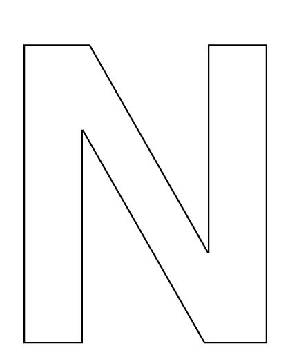 6 Images of Printable Big Letter N
