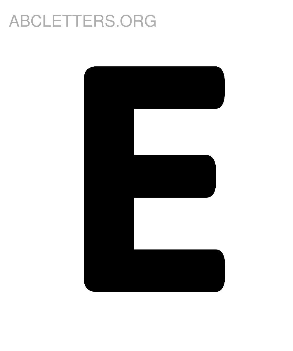 6 Images of Big Printable Bubble Letter E