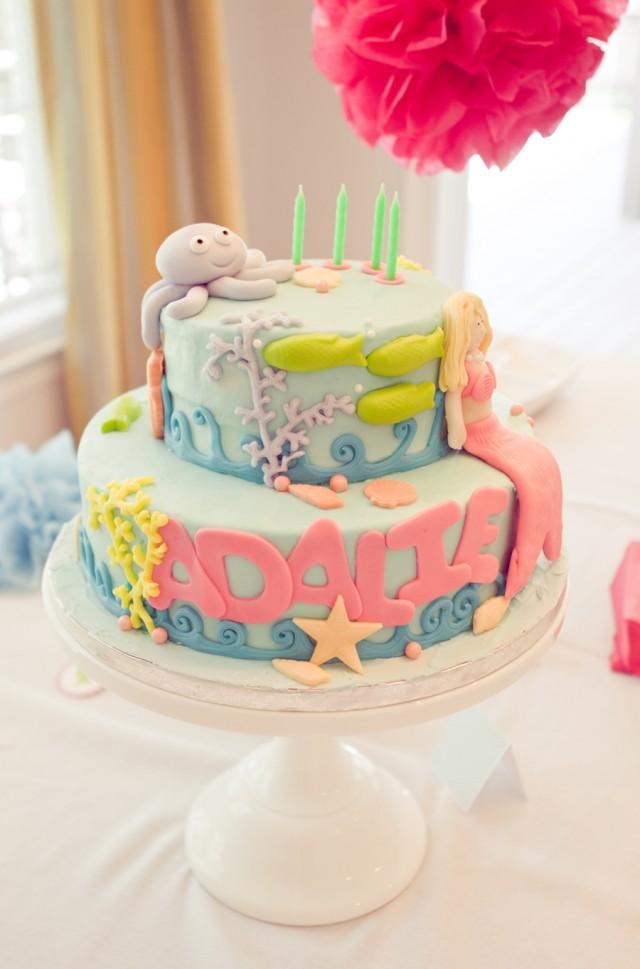 Little Mermaid Party Cake Ideas