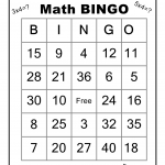 math worksheet : 6 best images of math bingo worksheet printables  free printable  : Math Bingo Worksheets