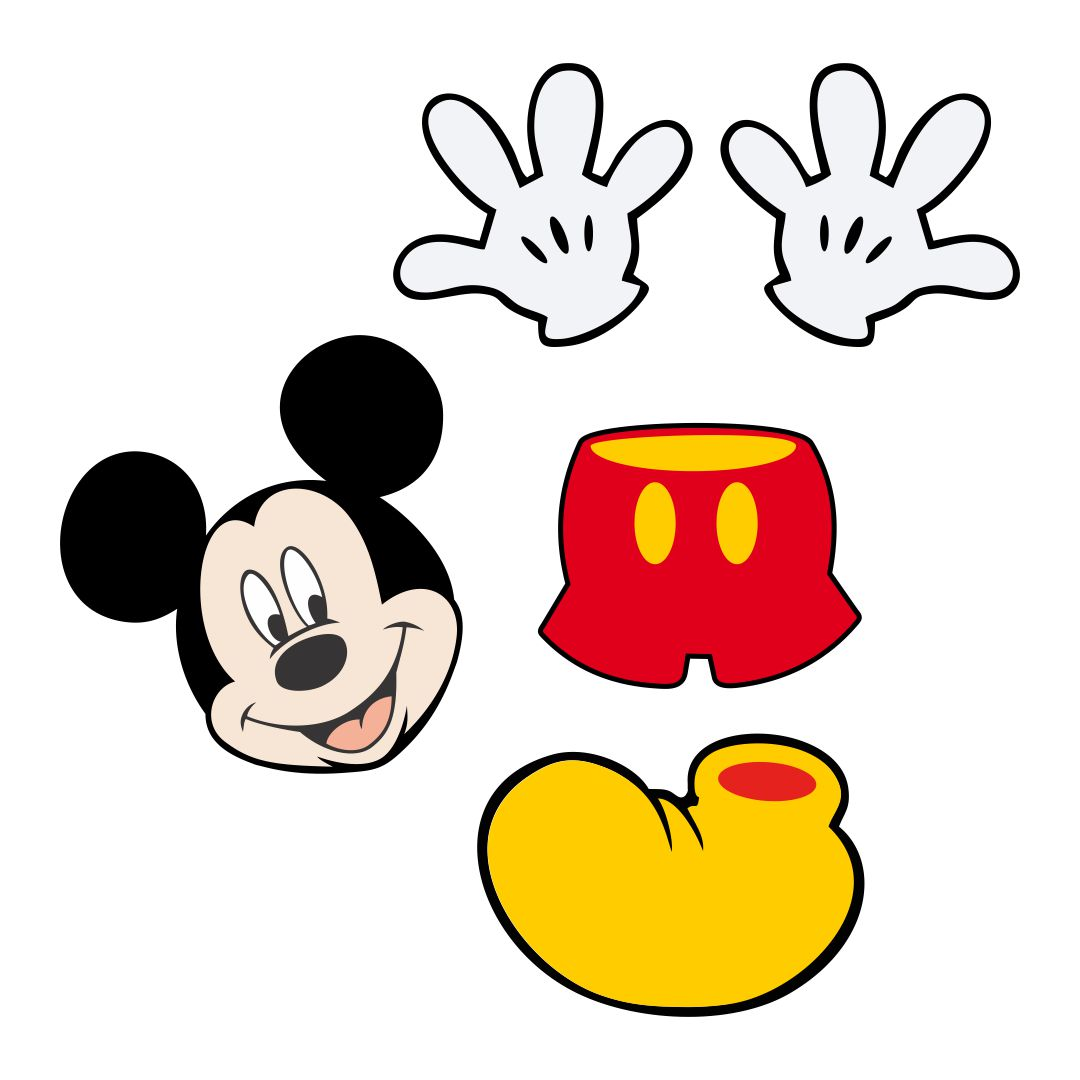 Mickey Mouse Cut Out Shape