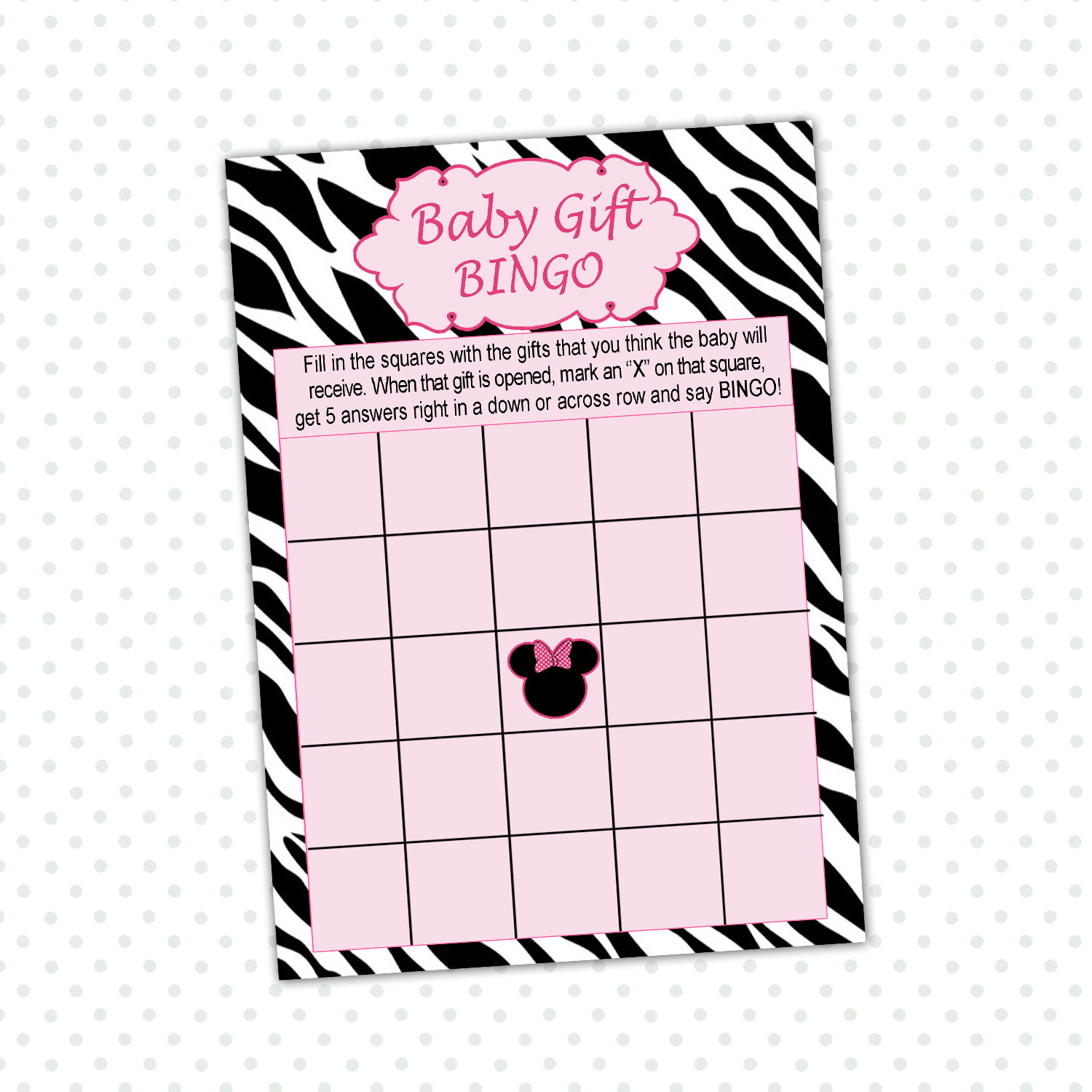 games minnie mouse bingo printable free minnie mouse baby shower