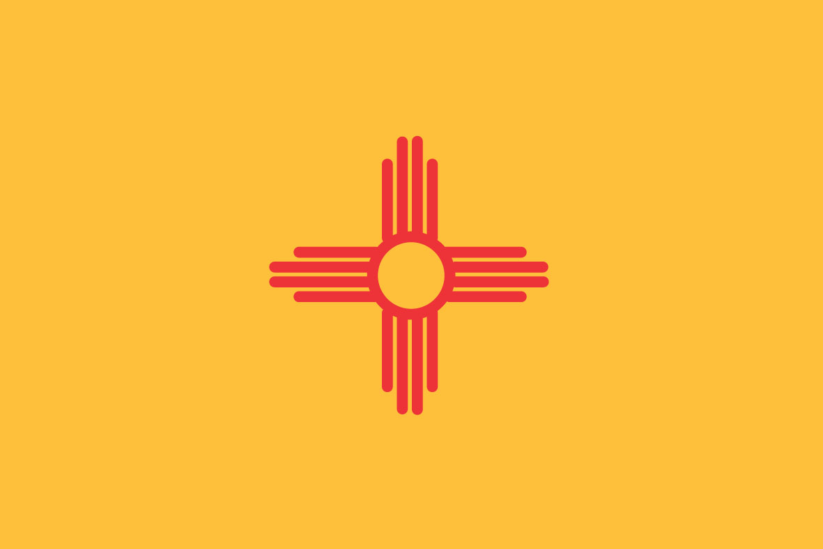 4 Images of New Mexico State Flag Printable