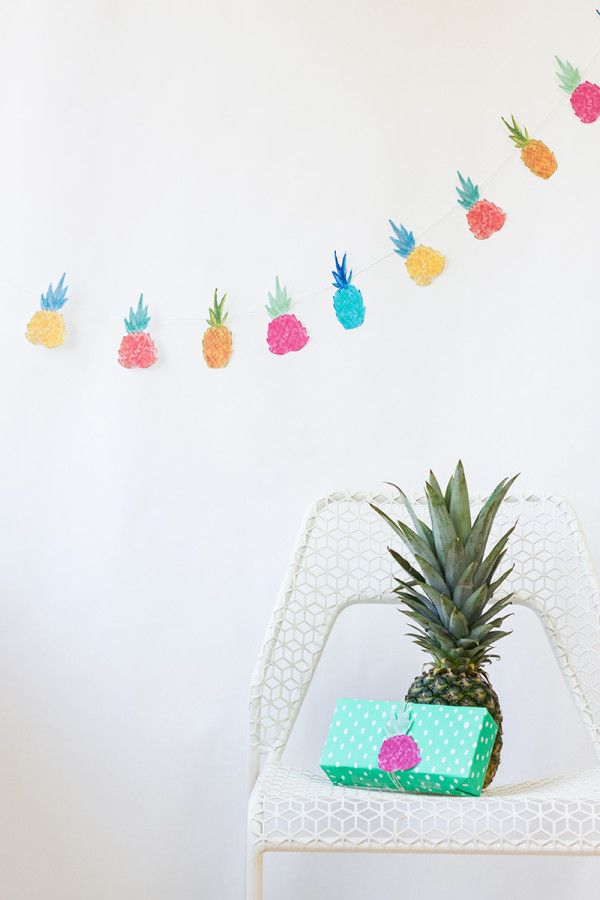 5 Images of Printable Pineapple Garland