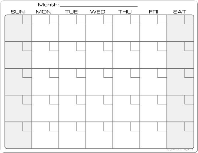 calender monthly