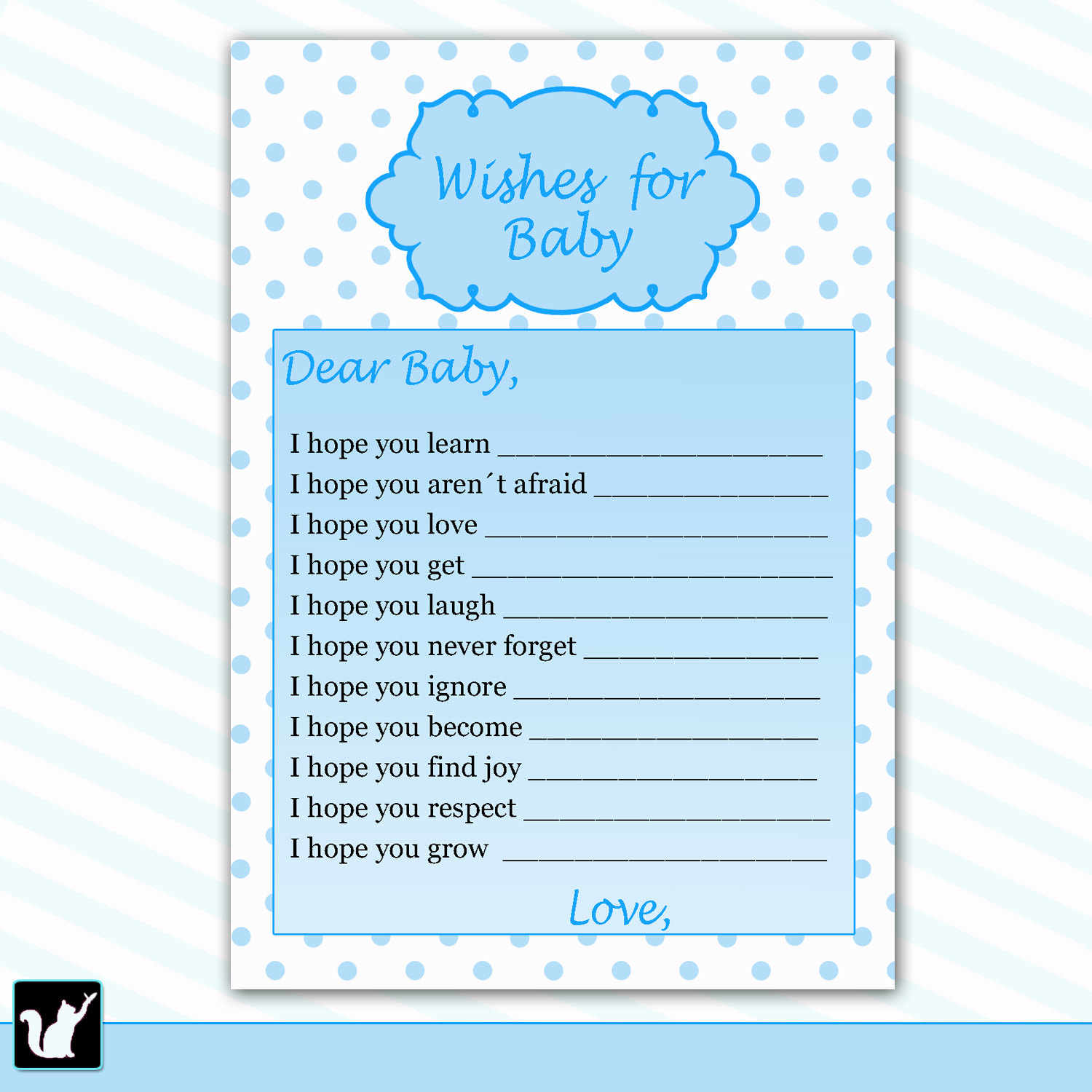 5 best images of free printable wishes for baby boy for Wishes for baby template printable
