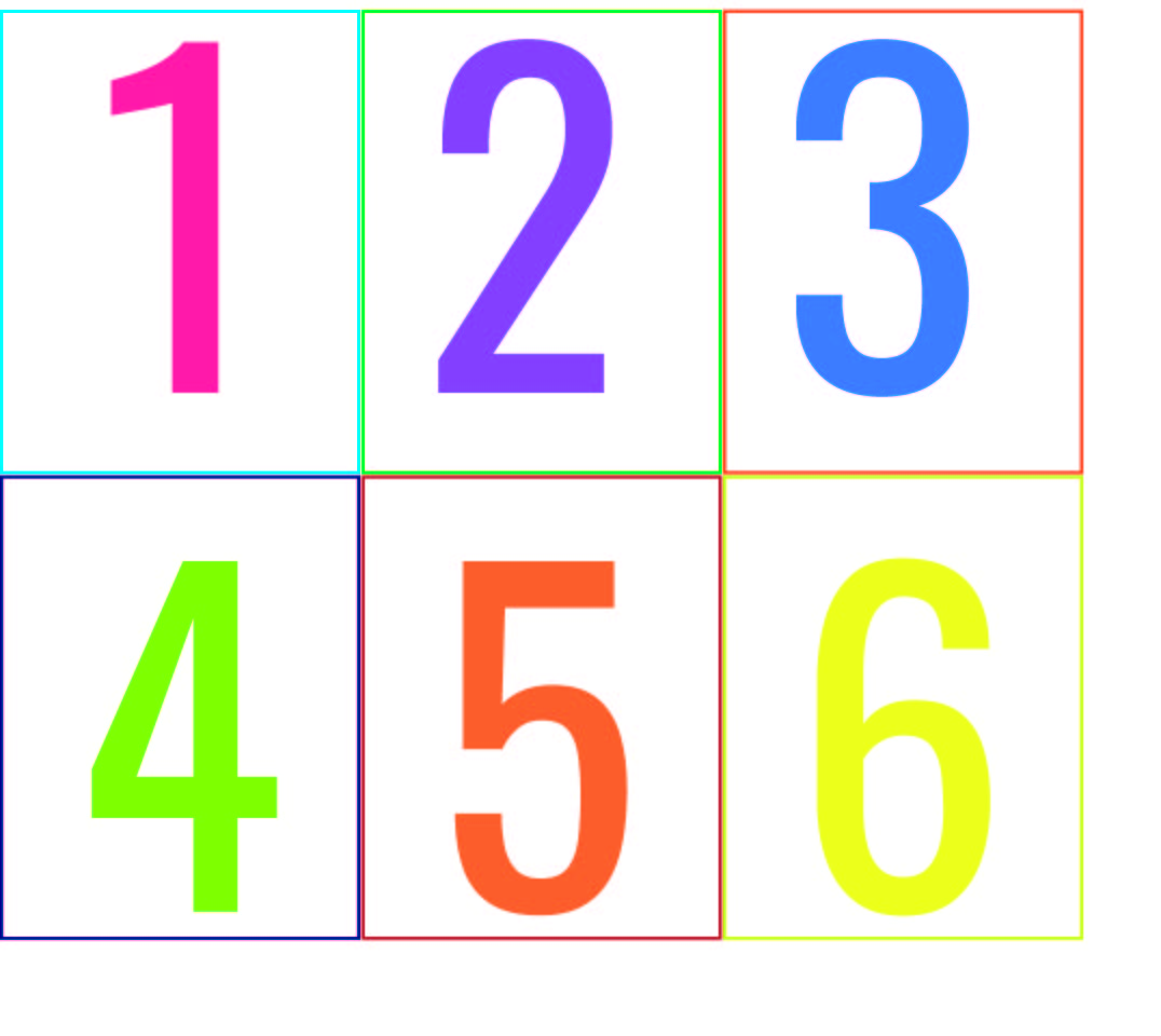 Printable Colored Numbers
