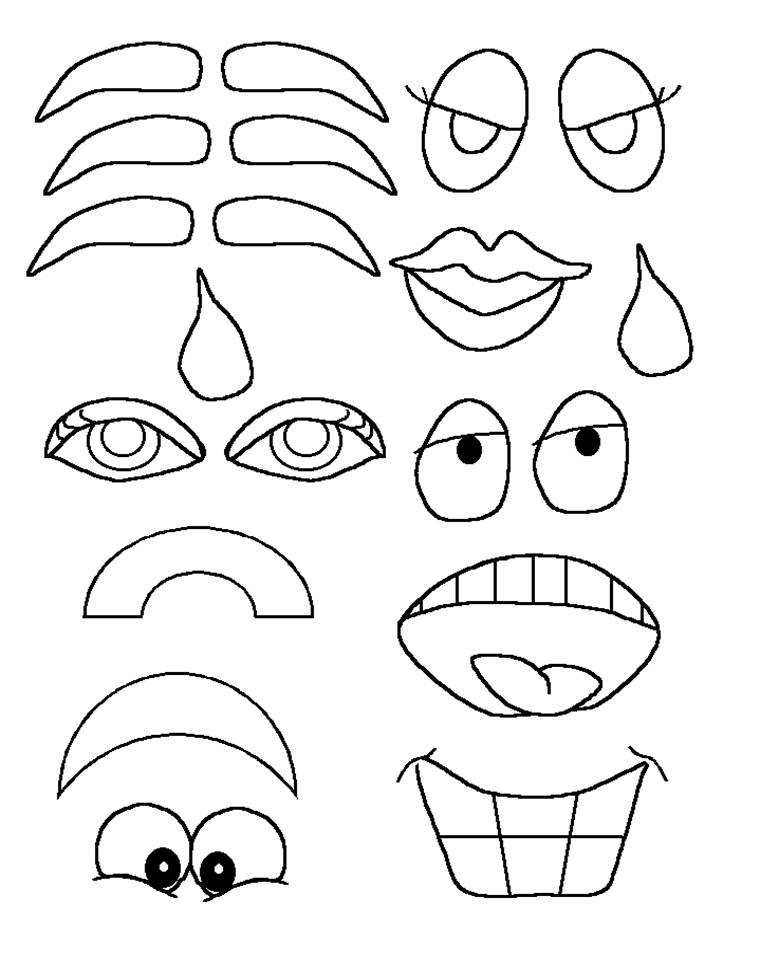 6 Images of Printable Face Parts