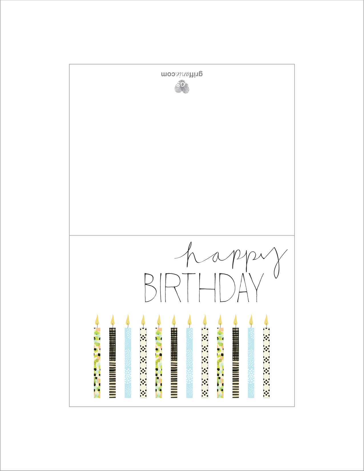 7 best images of printable foldable birthday cards to