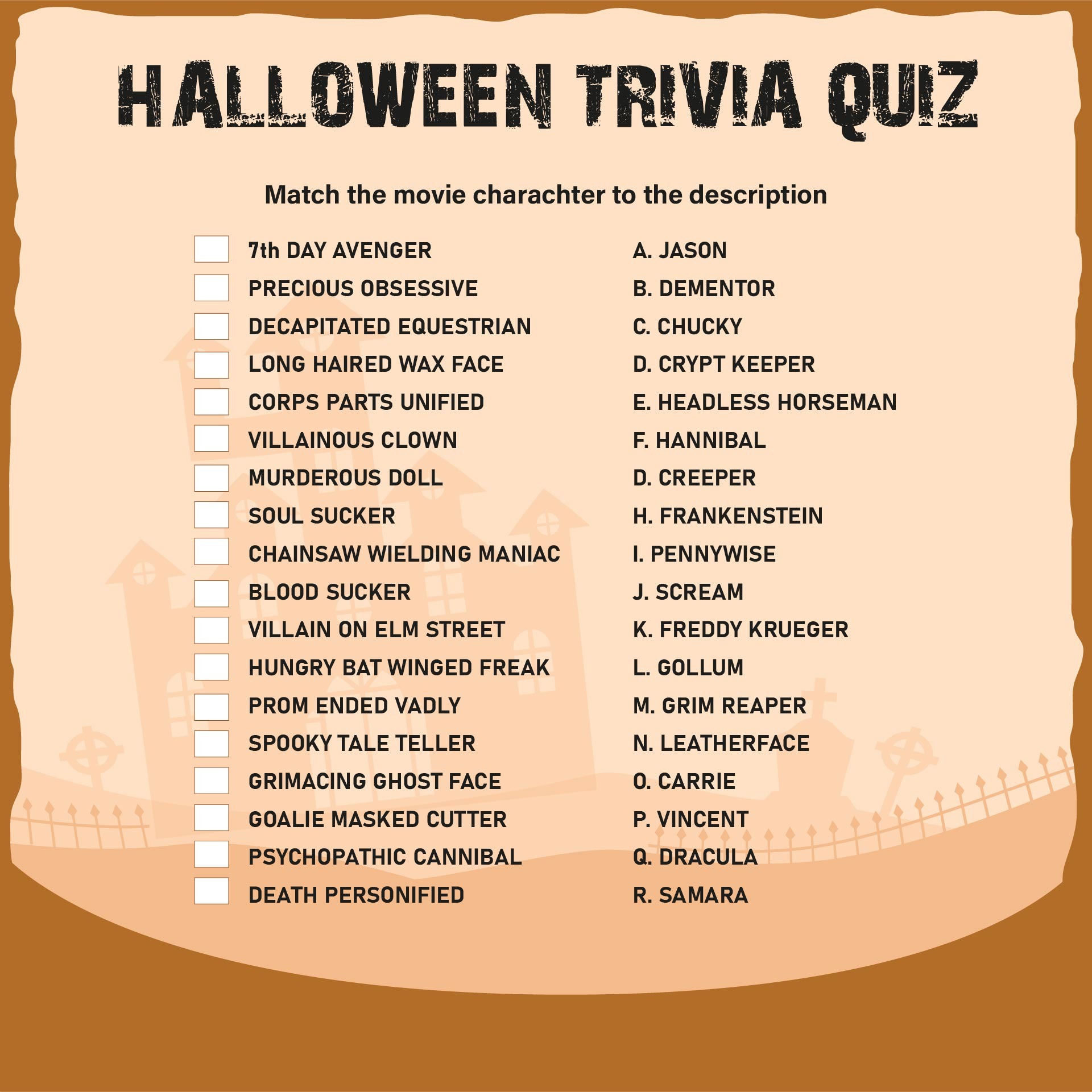 7 Images of Printable Halloween Trivia And Answers