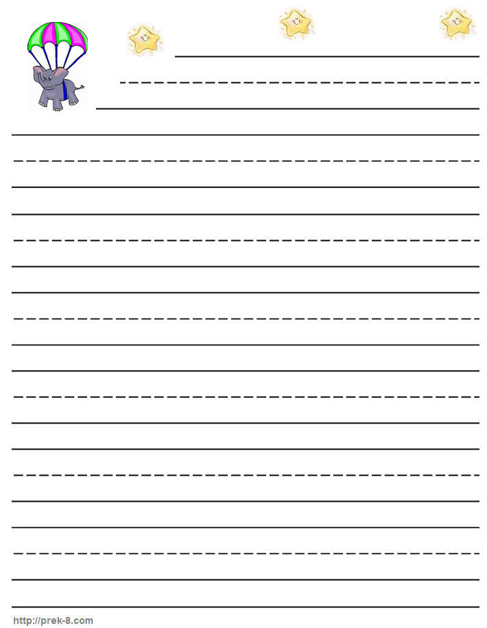 7 best images of third grade printable lined paper 2nd for Free printable lined paper template for kids