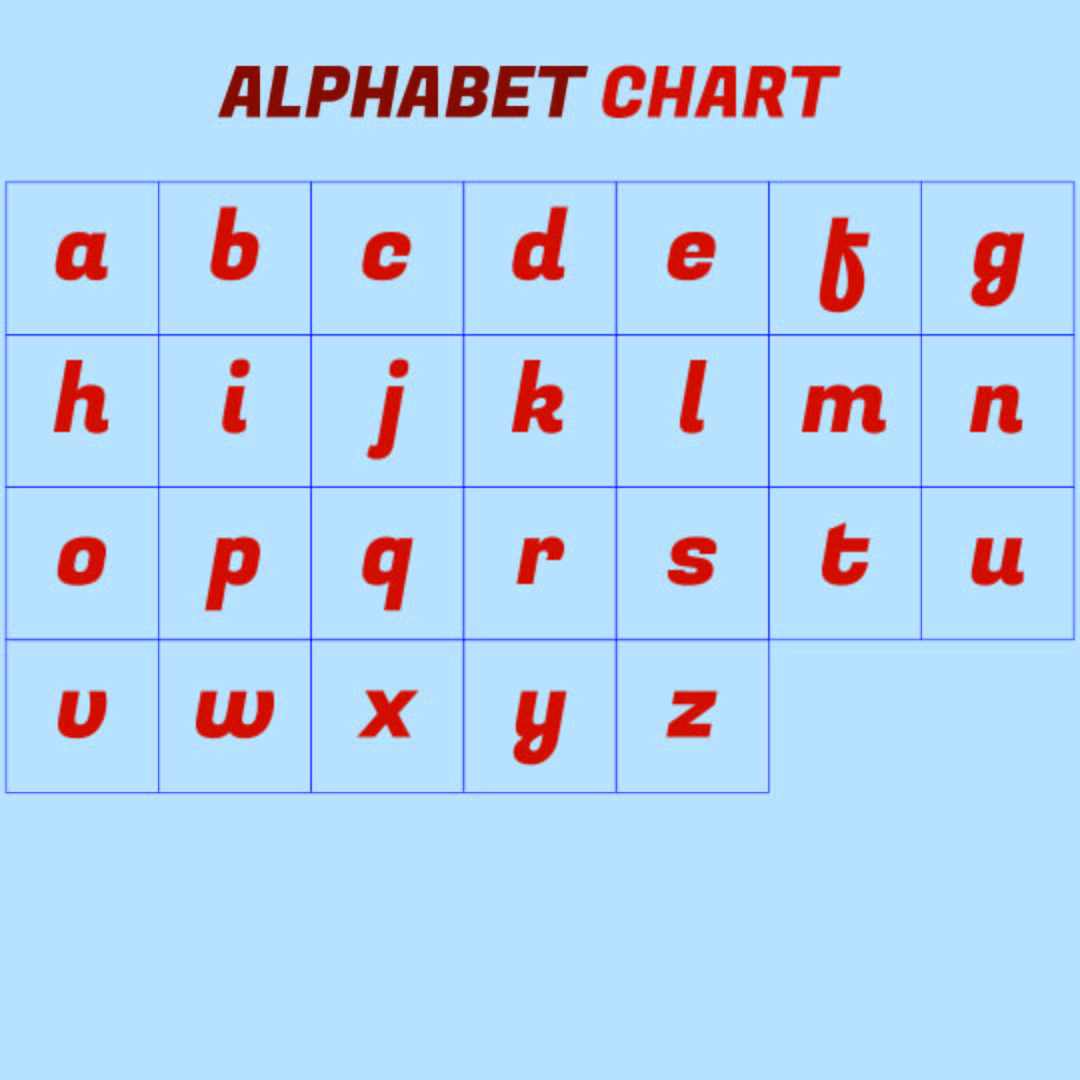 This is a graphic of Wild Printable Lowercase Alphabet
